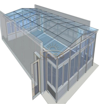 Sunroom Roof House Wood Glass Garden Greenhouse