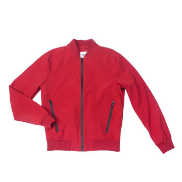 Men stretch nylon bomber jacket