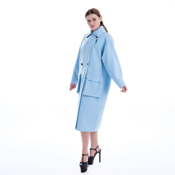 Lady's classic pure cashmere coat