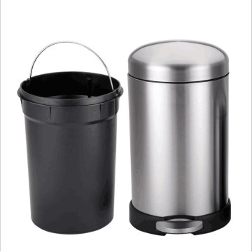 Round Foot Pedal Stainless Steel Trash Can