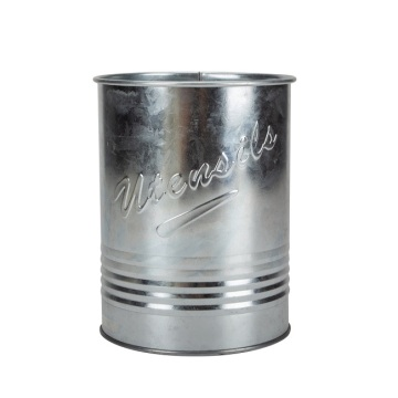 Metal Utensil Holder With Ebossing Words