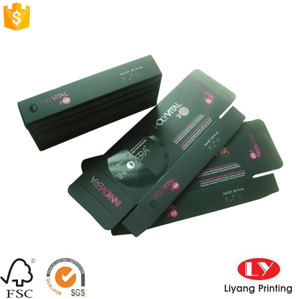 Cosmetic packaging rever tuck box with logo printed