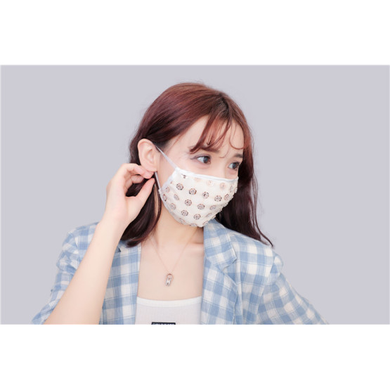 Fashionable French embroidered silk face mask