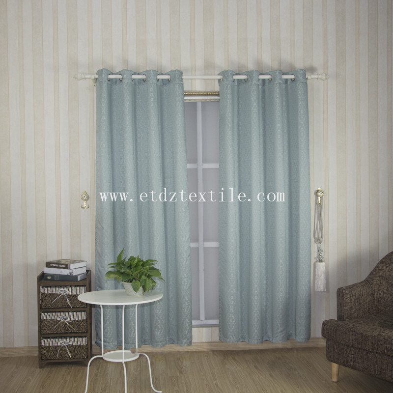 Hot Typical Design of  Curtain GF026 in Water Blue Color
