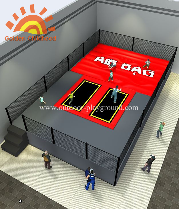 Airbag Themed Trampoline Park