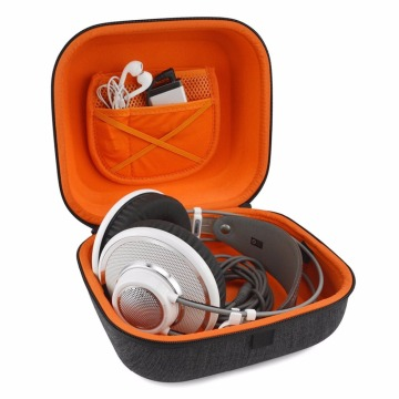 durable carrying headphone case with handle