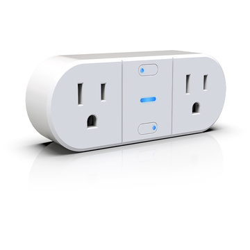 Double individual output WIFI smart socket