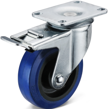 Elastic rubber Trolley Casters