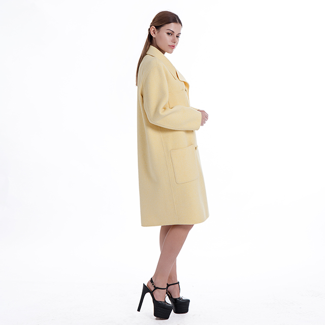 Pure cashmere overcoat