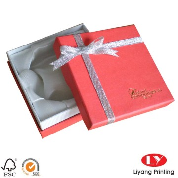 Fancy paper jewelry gift box with logo print