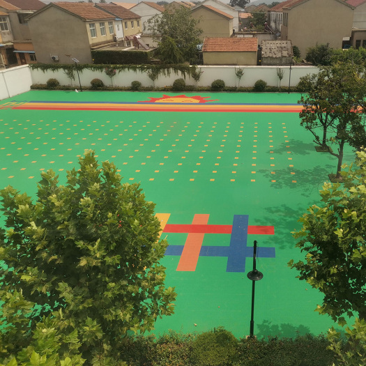 outdoor Kindergarten court tiles