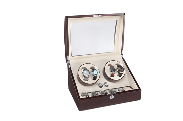 Two Rotors Watch Winder With Storages
