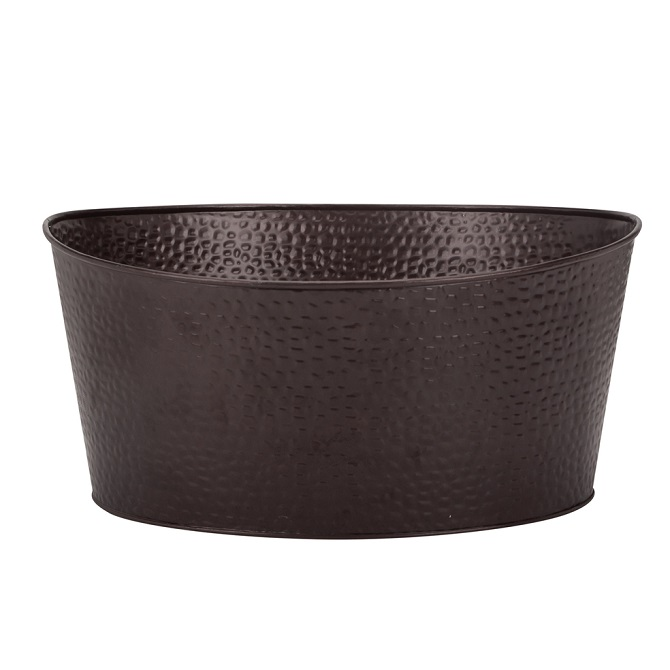 Metal Tray Round Black