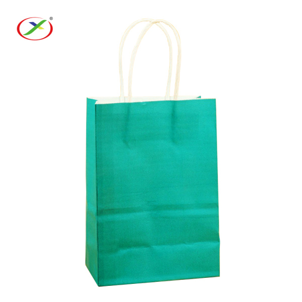 accept custom kraft paper handle paper bag