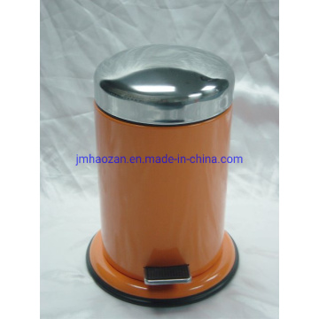 High Quality Stainless Steel Pedal Trash Can, Dustbin with Steel Bottom