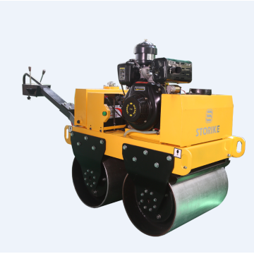 Double drum walk behind vibratory roller compactor