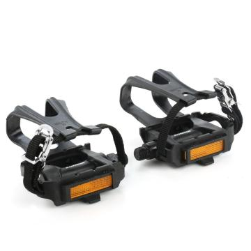 Bike Pedals with Toe Clip and Strap