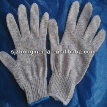 string knitted safety cotton gloves