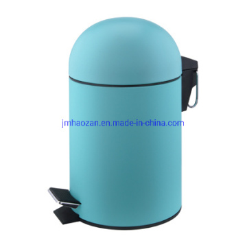 Stainless Steel Half Round Lid Pedal Trash Can, Dustbin