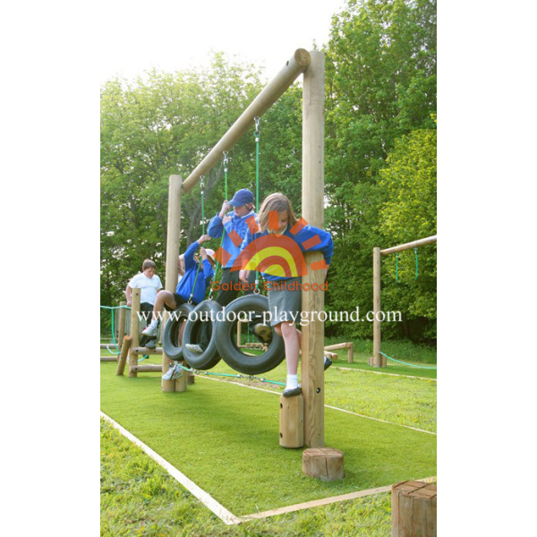 Children's Tyre Walk Balancing Outdoor HPL Playground