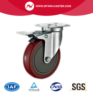 Top Plate Swivel Industrial Caster With Brake