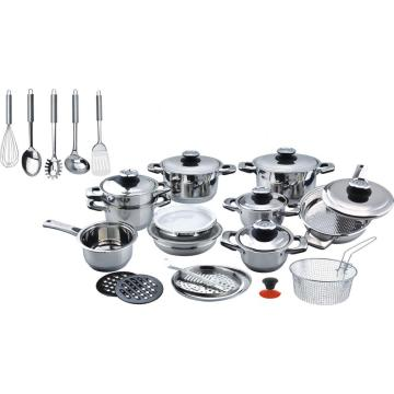 Cookware set with big therm knob