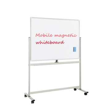 Large Mobile Magnetic Whiteboard With Lockable castors