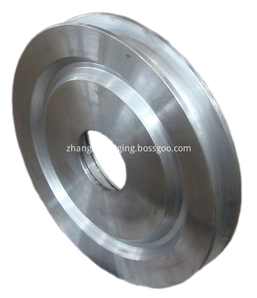 Forged bulldozer idle wheel forging