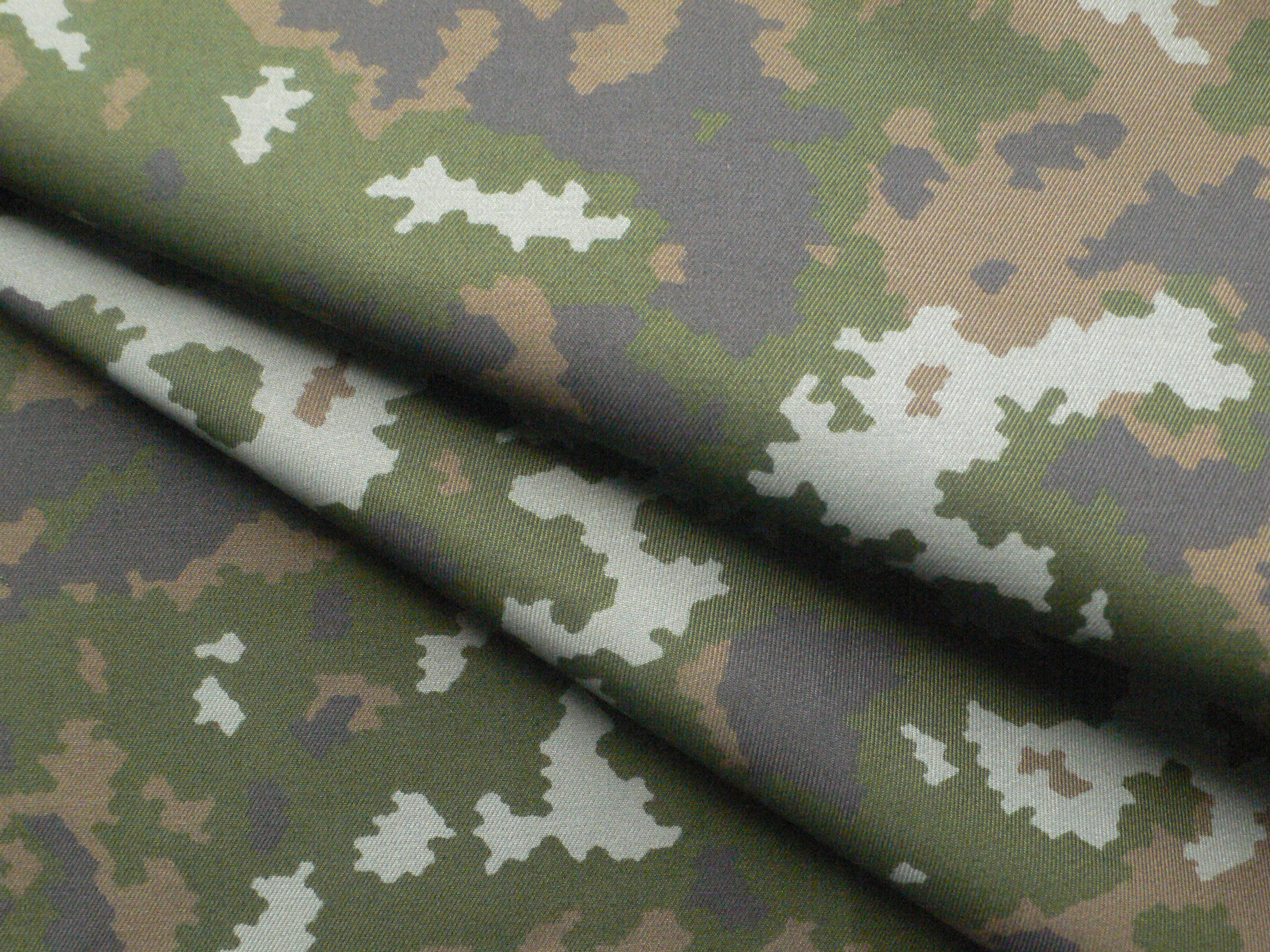 CVC Twill Digital Camouflage Fabric with IR and Anti-mosquito