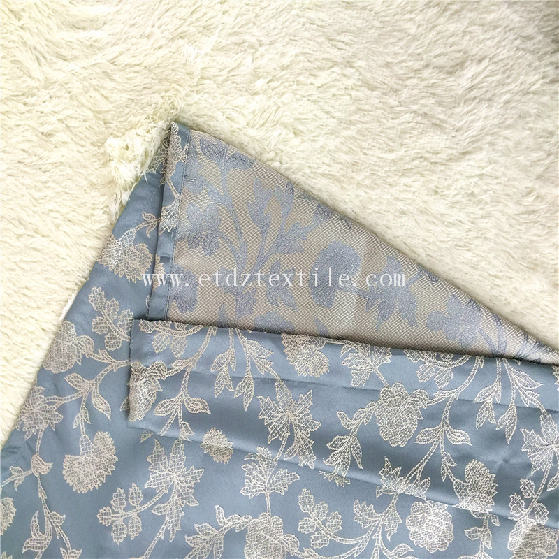 Home Trend Modern Embroidery Like Curtain Fabric GF029 Water Blue