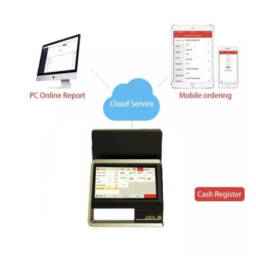 17`` aluminum dual screen android POS with NFC