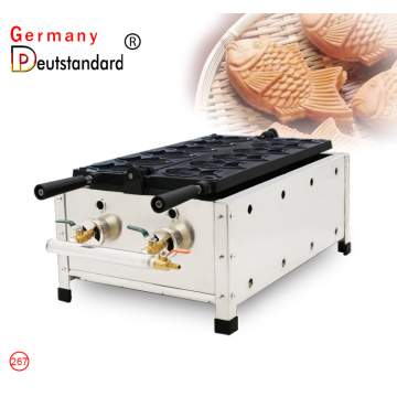 Commercial gas fish waffle maker for sale