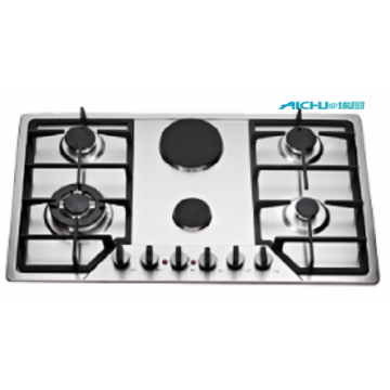 6 Burners Gas And Electric Hob