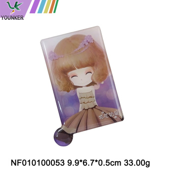 Square metal mini cartoon design small mirror