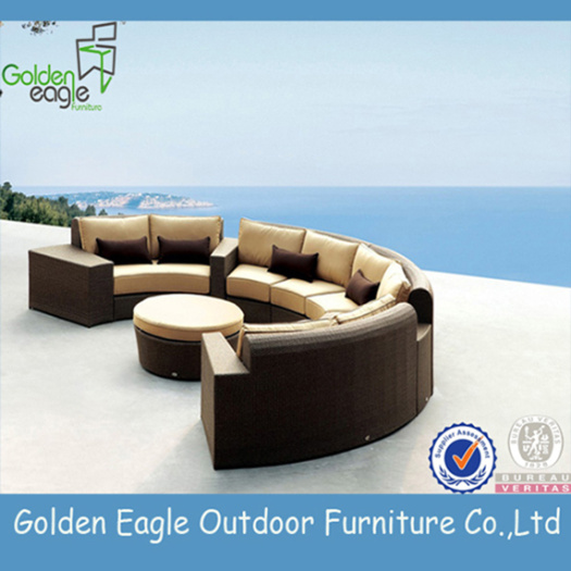 Eye-catching and Wicker Sofa Set with Colorfast Cushion