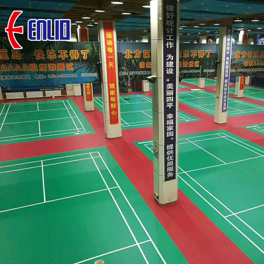 Badminton court mat for training with court lines