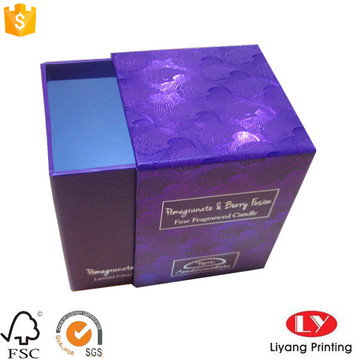 Candle drawer gift packaging box with logo