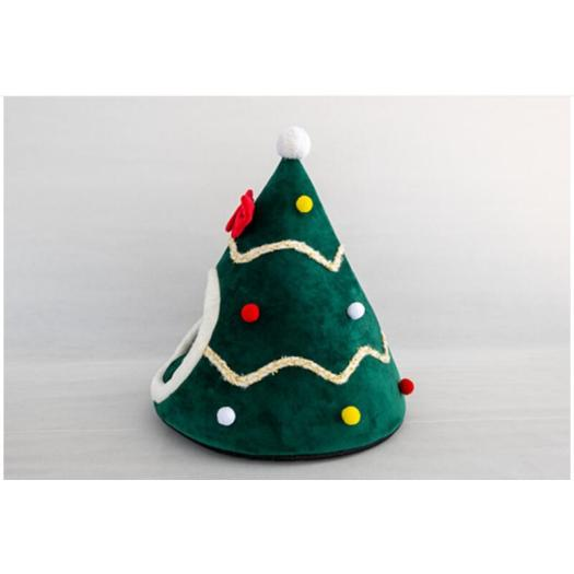 Creative pet nest tent christmas hat dog kennel