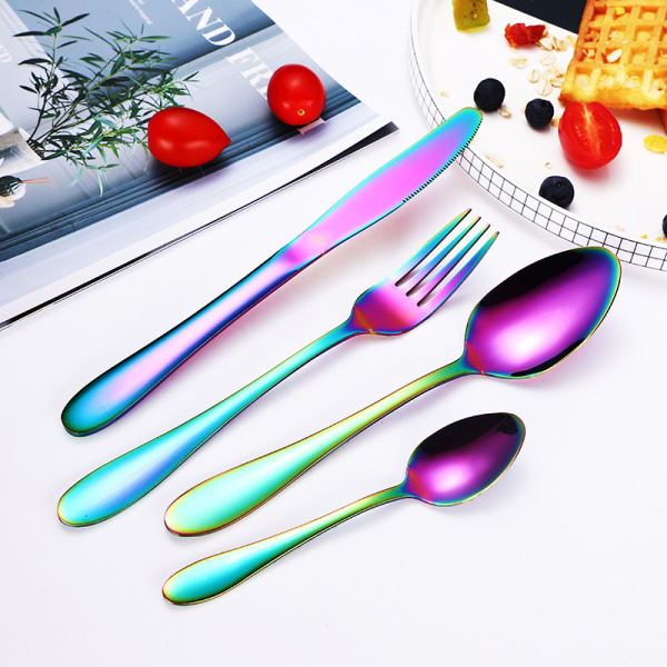 High Quality Restaurant Stainless Steel Gold Cutlery Set
