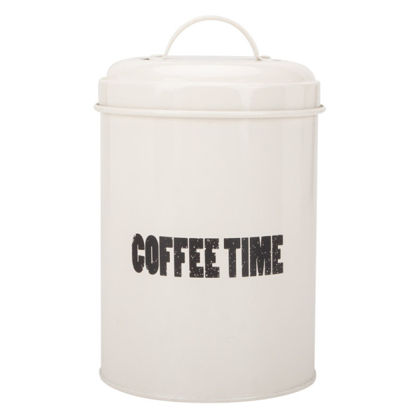 Tea sugar coffee metal canister