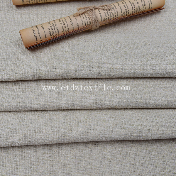 Upholstery 100% Polyester Textile Linen Woven Decorative Sofa Fabric
