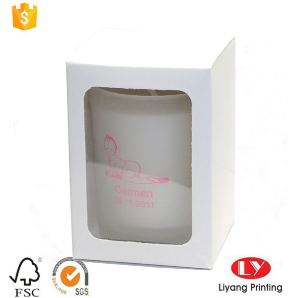 Cheap candle box with PVC window