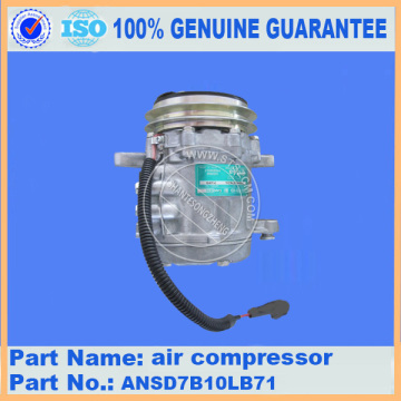 Komatsu spare parts PC50MR-2 air compressor ANSD7B10LB71 for air conditioner parts