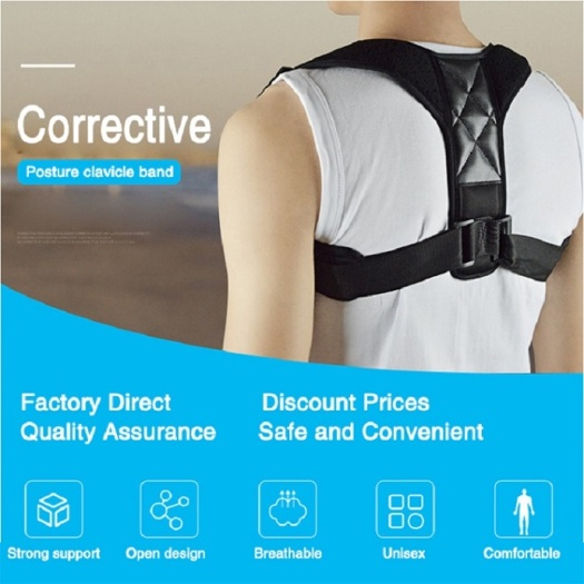 Adjustable Posture Corrector leather Brace Oem Service