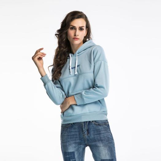 Plus Velvet Sweater Letter Embroidery Hooded sweatshirts
