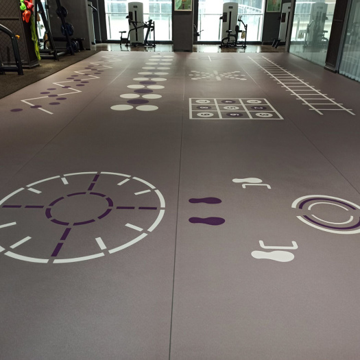 Gym room sports flooring