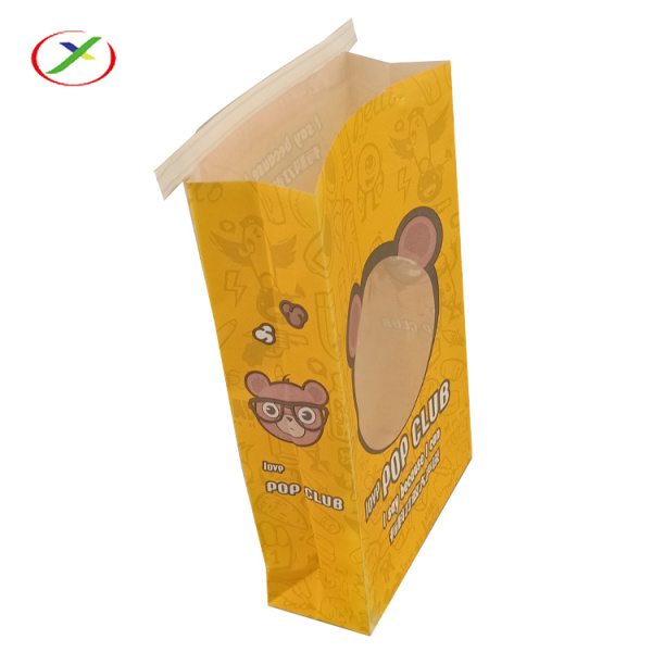 Popcorn paper bag with clear window