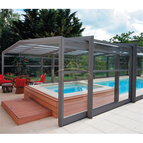 Cover Roof Swim Spa Retractable Swimming Pool Enclosure