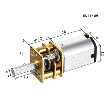 N20 dc motor with gearbox for robot application