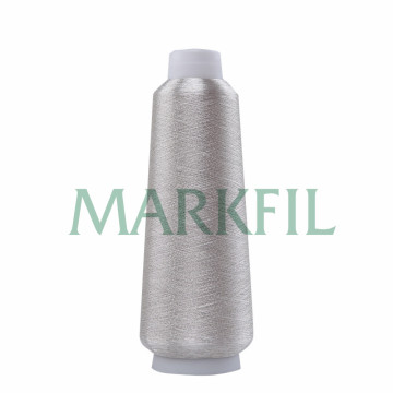 150D polyester real Silver Thread metallic yarn wholesale